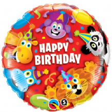 "Birthday Party Animals Foil Balloon (18"") 1pc"